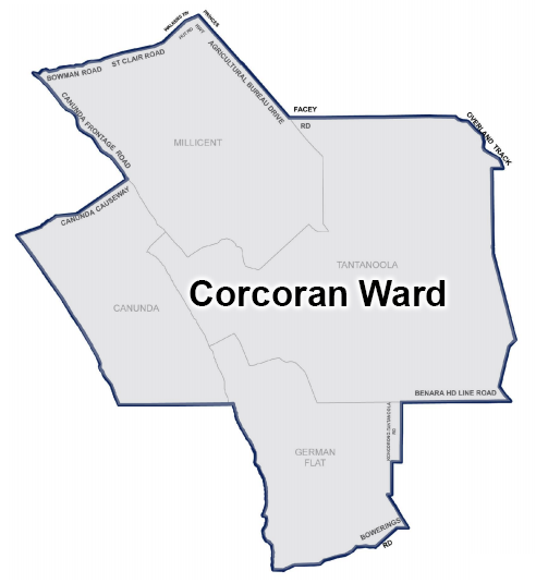 Council electoral map of Cororcan Ward Wattle Range Council