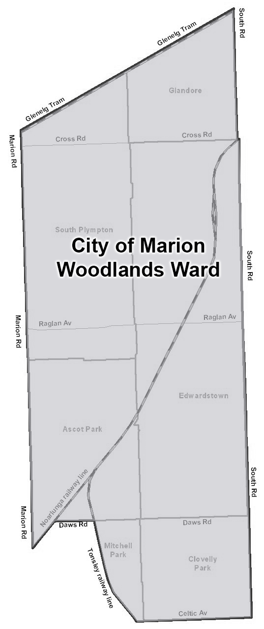 City of Marion Woodland Ward map